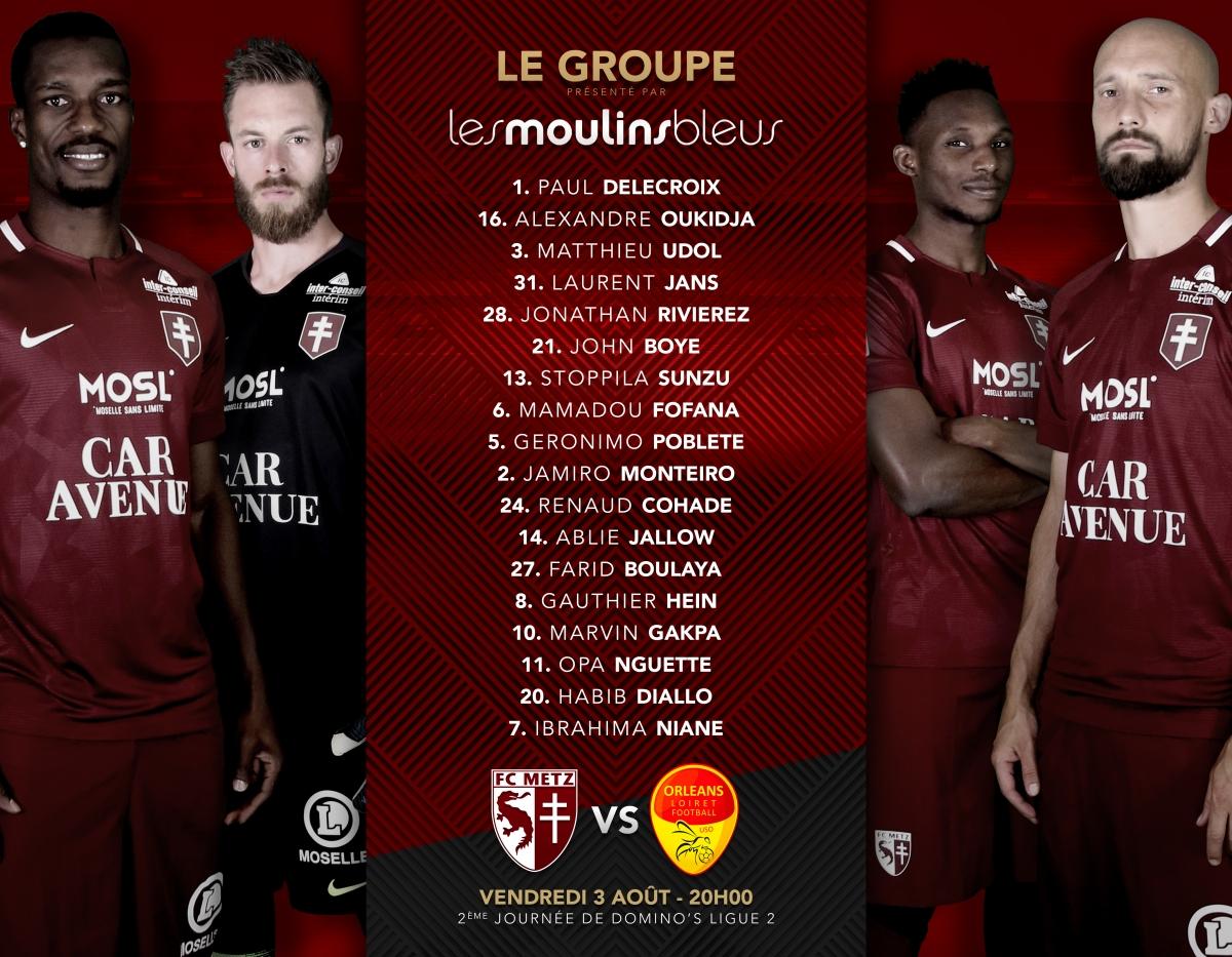 2ème journée FC Metz - US Orléans Legroupe_fcmuso_1819_0