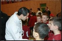 FC Metz Walygator Tour 2010 Etape de Kehlen  : Mario MUTSCH félicite les petits Grenats