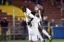 Coupe de France, 7° tour  : Mathieu Duhamel félicite cette fois Oumar Pouye, dernier buteur du match