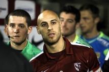 Metz - Lens, 17e journée de Ligue 2  : Le capitaine messin, Ludovic Guerriero, dans le tunnel quelques instants avant le début de la rencontre