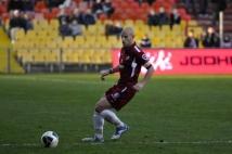 Metz - Bastia, 19e journée de Ligue 2  : Le capitaine du FC Metz, Ludovic Guerriero, a endosser le rôle de défenseur central contre le SC Bastia