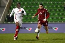 Metz - Sedan, 21e journée de Ligue 2  : Mathieu Duhamel effectuait son retour dans l\'équipe après un mois d\'arrêt.