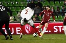Metz - Sedan, 21e journée de Ligue 2  : Mathieu Duhamel a frappé au but, sans succès.