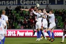Metz - Troyes  : Stéphane Besle saute plus haut que trois Troyens réunis!