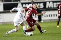 Amiens SC - FC Metz, 31° journée de Ligue 2   : Ludovic Guerriero a failli oublier le ballon! Ou était-ce une feinte pour éliminer son adversaire?