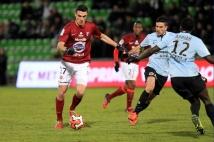 Metz - Caen, 23° journée  : Nicolas Fauvergue en action