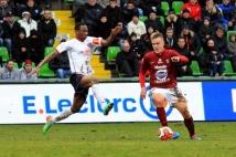 Metz - Clermont, 25° journée  : Première entrée en jeu de Thibaut Vion avec l\'équipe fanion du FC Metz