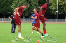 Reprise de l'entraînement   : Johann Carrasso et Ali Bamba