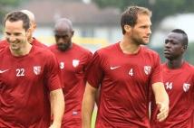 Amnéville-Metz, match amical   : Kevin Lejeune et Sylvain Marchal à l\'échauffement