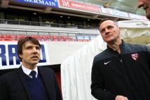 Reims - Metz, 26ème journée de Ligue 1  : Jean-Luc Vasseur et Albert Cartier