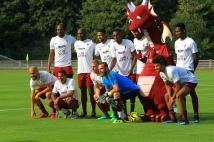Les photos du match face au Racing Luxembourg !