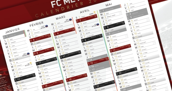 Foot Ligue 1 Calendrier 2020.Le Calendrier 2019 2020 A La Loupe Football Club De Metz
